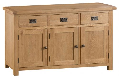 Cornish Oak 3 Door Sideboard